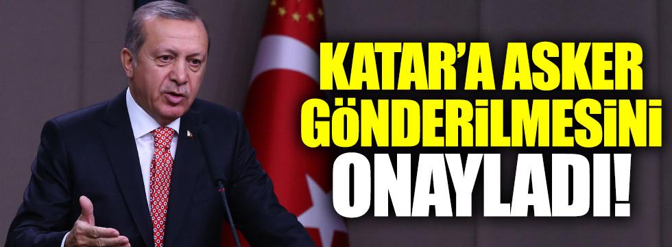 Erdoğan Katar'la imzalanan anlaşmaları onayladı