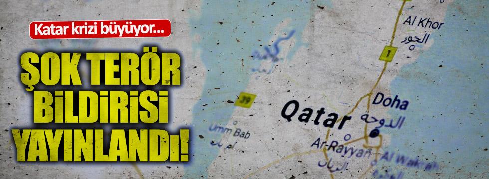 Katar krizi büyüyor.. Şok terör bildirisi..