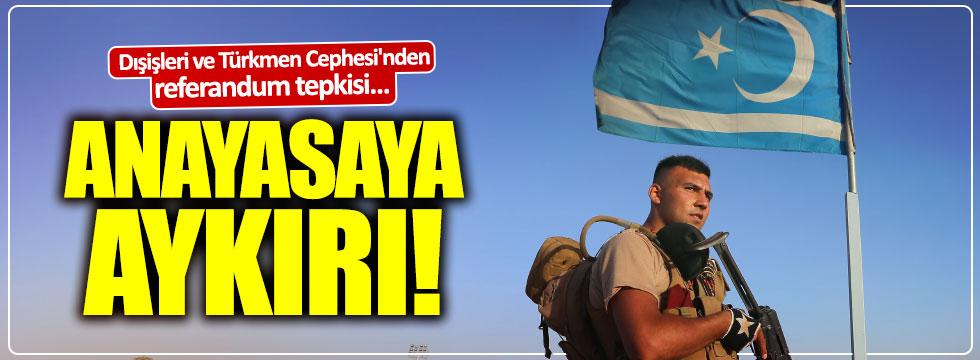 Dışişleri ve Türkmen Cephesi'nden Referandum Tepkisi