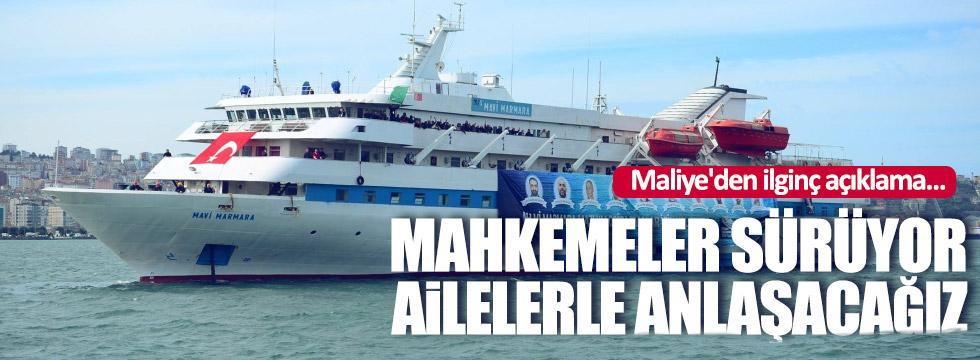 Maliye'den Mavi Marmara Açıklaması: Mahkemeler sürüyor; ailelerle anlaşacağız