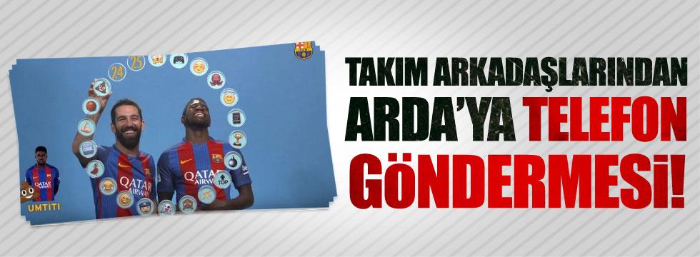 Barcelonalılardan Arda Turan'a telefon göndermesi