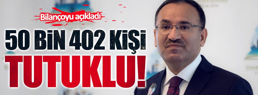 Bakan Bozdağ: FETÖ davalarında 50 bin 402 kişi tutuklu