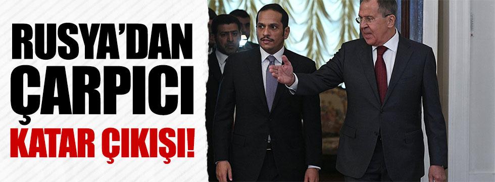 """Rusya """"Katar"""" sessizliğini bozdu: Endişeliyiz"""