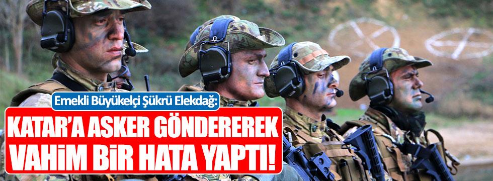 """Elekdağ: """"Erdoğan, Katar'a asker göndererek vahim bir hata yaptı"""""""