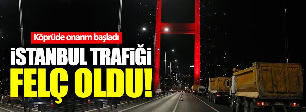 İstanbul trafiği felç oldu!
