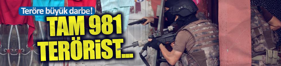 6 ayda 981 terörist