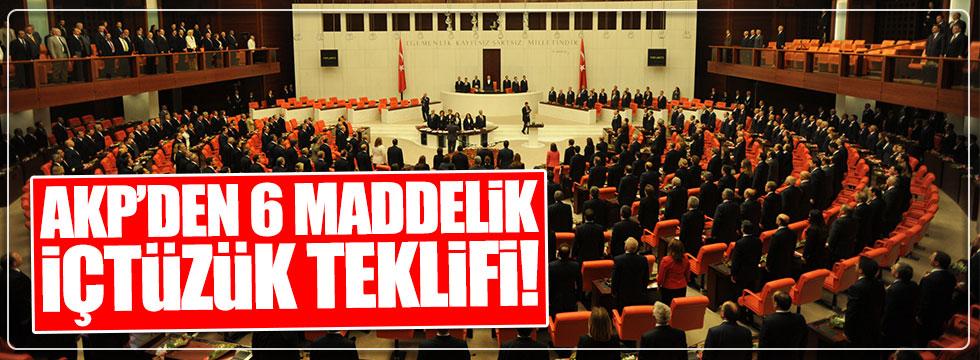 AKP 6 maddelik iç tüzük teklifi hazırladı