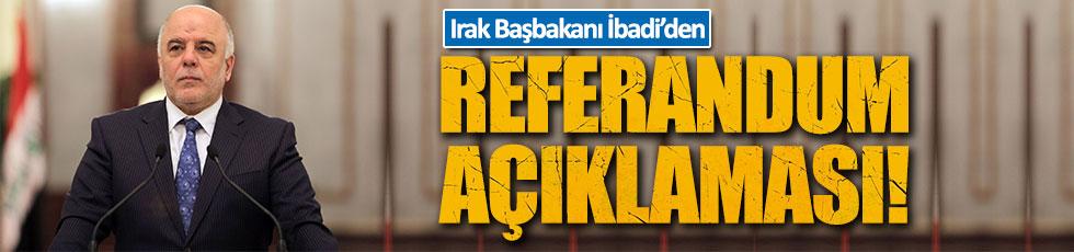 İbadi'den 'bağımsızlık referandumu'na tepki