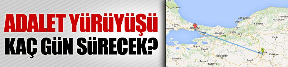 Ankara'dan İstanbul'a kaç günde yürünür?