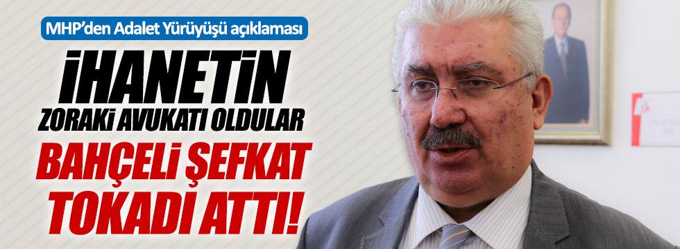 MHP'den Adalet yürüyüşü açıklaması: İhanetin zoraki avukatı oldular, Bahçeli şefkat tokadı attı