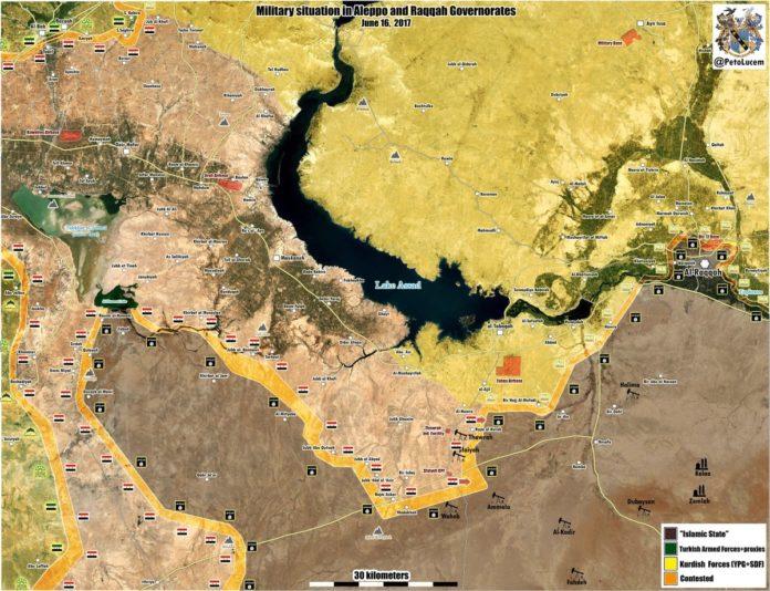 Suriye ordusu ile SDG Rakka'da karşı karşıya !