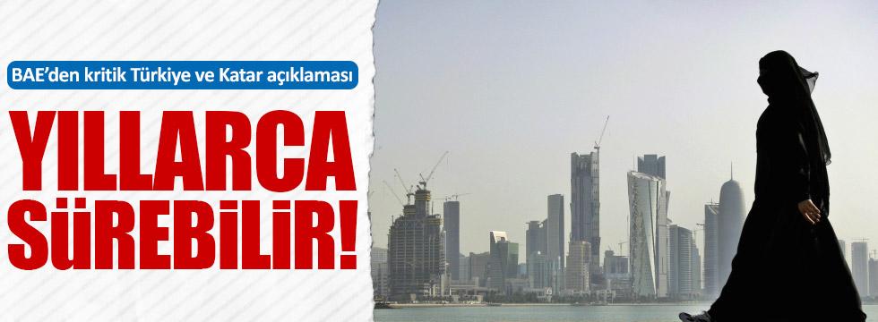 BAE'den kritik Türkiye ve Katar açıklaması