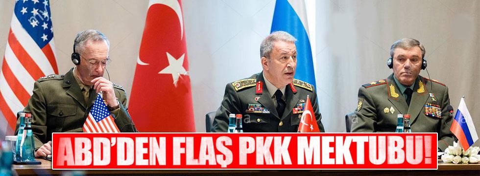 ABD'den Türkiye'ye PKK mektubu