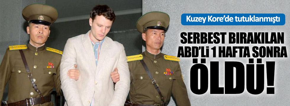 Kuzey Kore'de mahkum edilen ABD'li iade edildikten sonra hayatını kaybetti