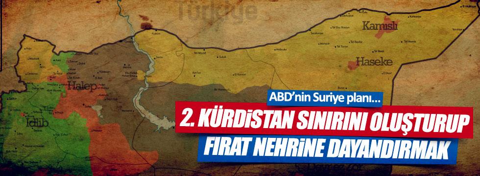 """""""ABD'nin Suriye planı 2. Kürdistan sınırını oluşturup Fırat nehrine dayandırmak"""""""