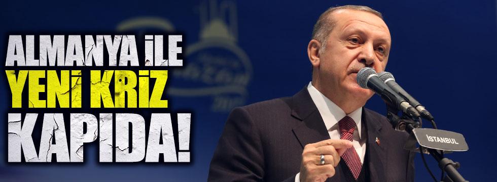 Almanya ile 'Erdoğan'a salon' krizi