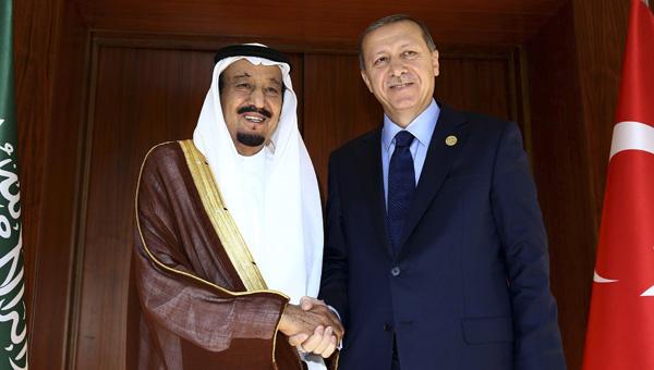 Erdoğan, Suudi Kral ile görüştü