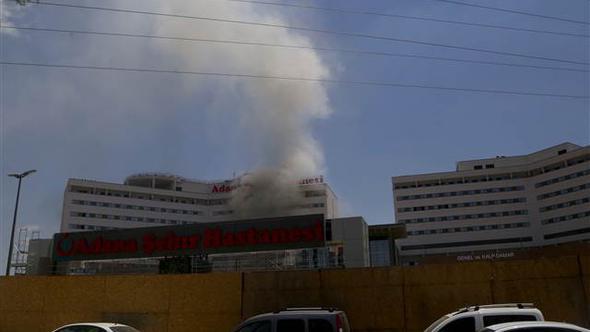 Hastane inşaatında yangın paniği