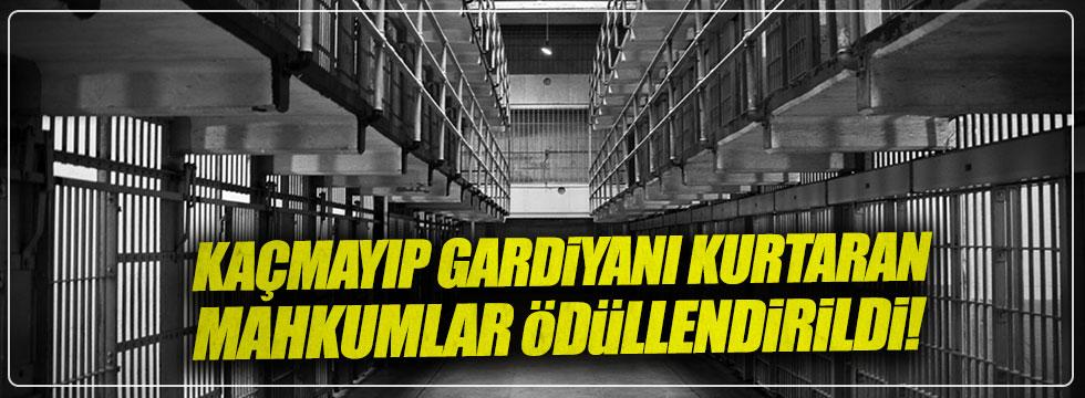 Kaçmayıp gardiyanı kurtaran mahkumlar ödüllendirildi