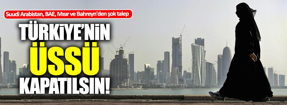 Türk üssünün kapatılmasını istiyorlar!