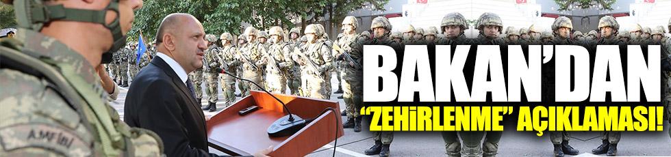 """Savunma Bakanı Işık'tan """"zehirlenme"""" açıklaması!!"""