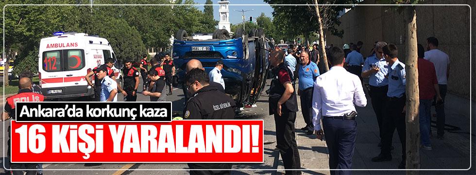 Ankara'da korkunç kaza: 16 yaralı!