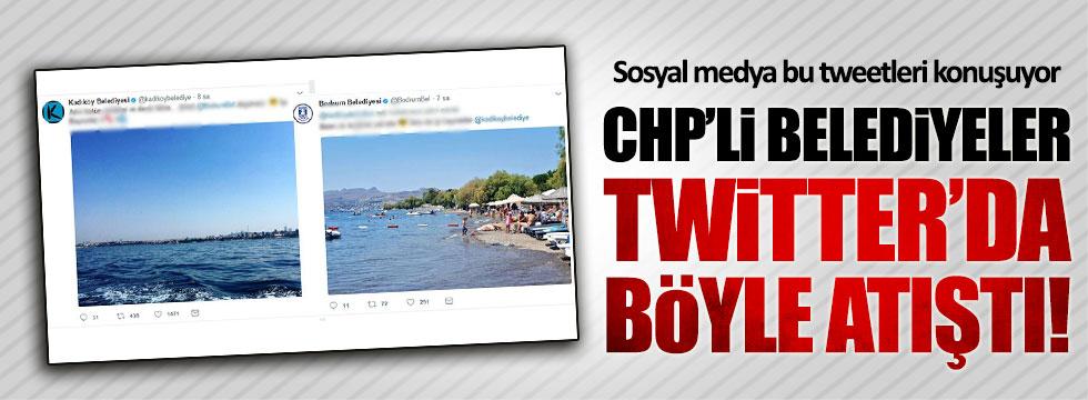 CHP'li Belediyeler Twitter'da atıştı