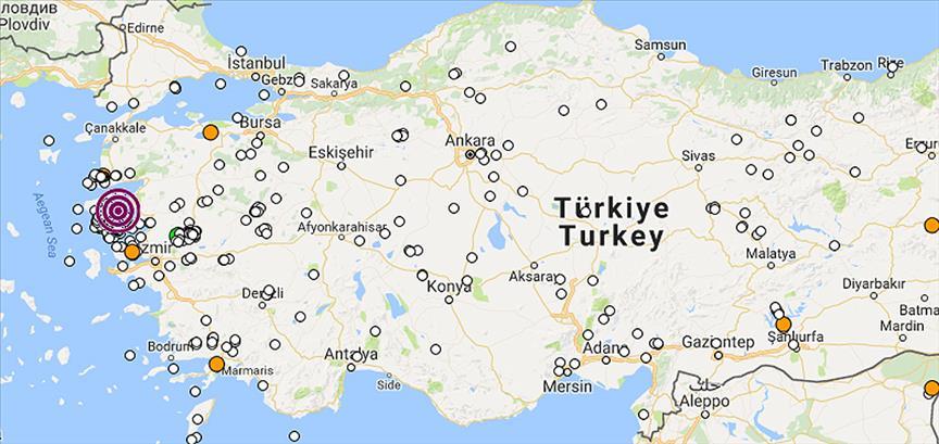 Ege Denizi'nde 4.6 büyüklüğünde iki deprem