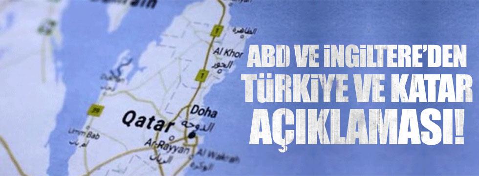 ABD ve İngiltere'den Türkiye ve Katar açıklaması