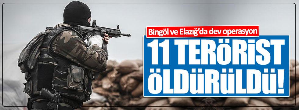 Bingöl ve Elazığ'da 11 terörist öldürüldü