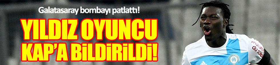 Galatasaray Gomis'i KAP'a bildirdi