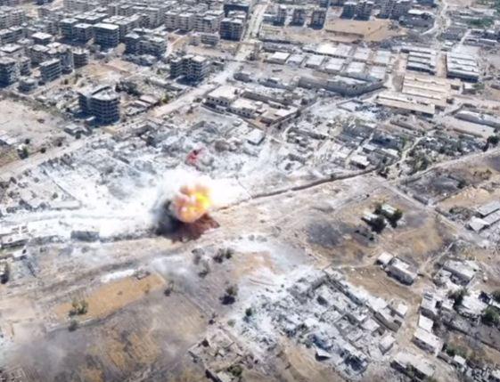 Suriye ordusunun hava harekatı görüntüleri