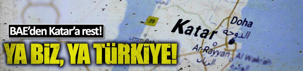 BAE'den Katar'a Türkiye resti