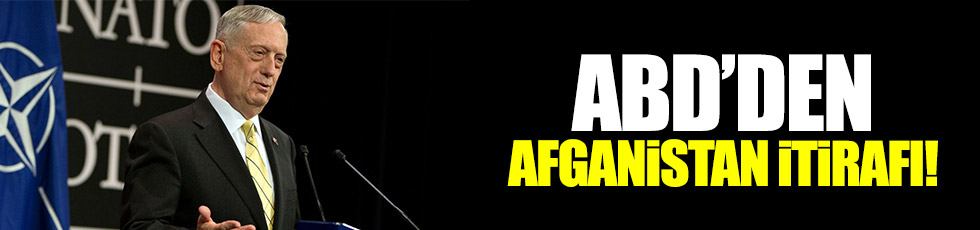 ABD'den 'Afganistan' itirafı!