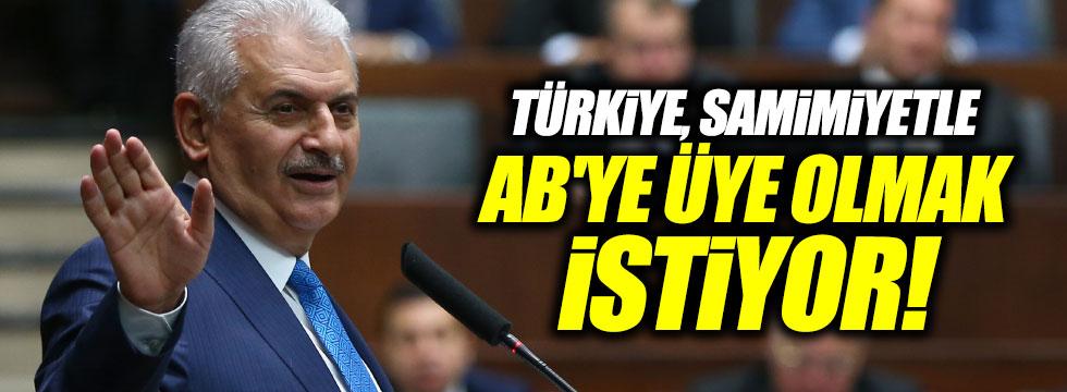 """Yıldırım: """"Türkiye, samimiyetle AB'ye üye olmak istiyor"""""""