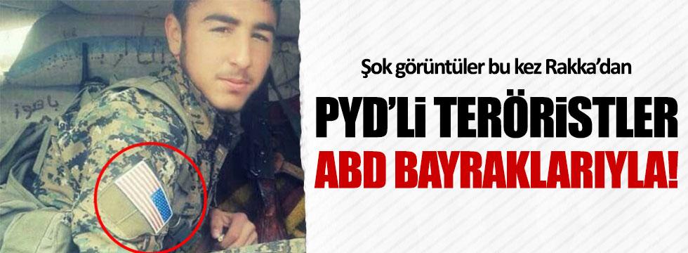PYD/PKK'lı teröristler ABD bayraklarıyla
