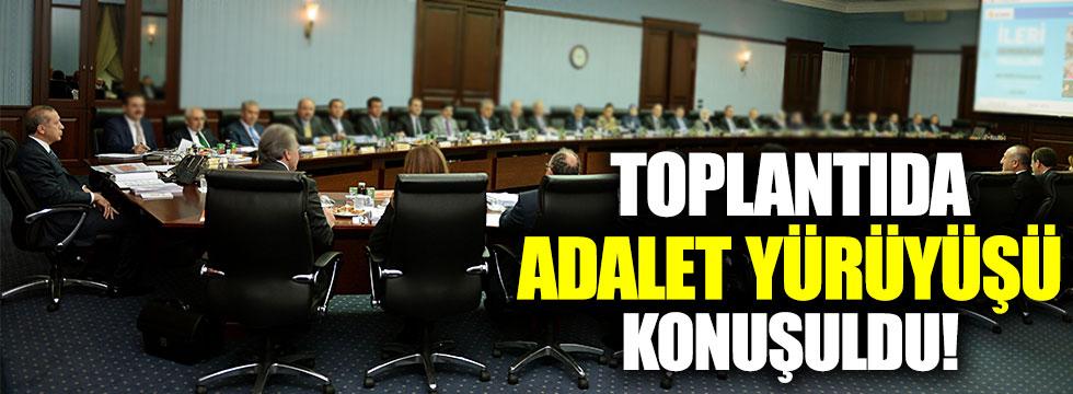 AKP MKYK'da 'Adalet Yürüyüşü' konuşuldu!