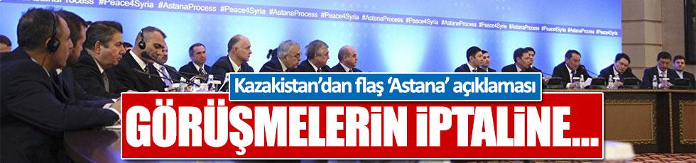 Kazakistan: Astana görüşmeleri iptal edilmeyecek