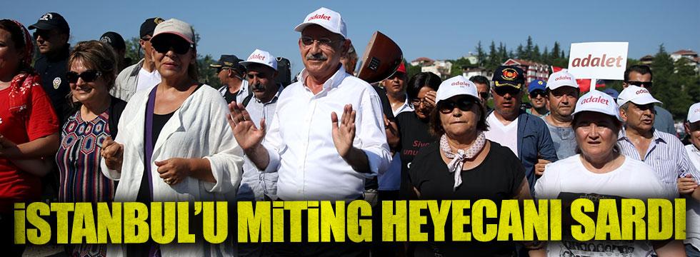 İstanbul'u miting heyecanı sardı