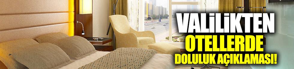 """İstanbul Valiliği'nden """"otellerde doluluk"""" açıklaması"""