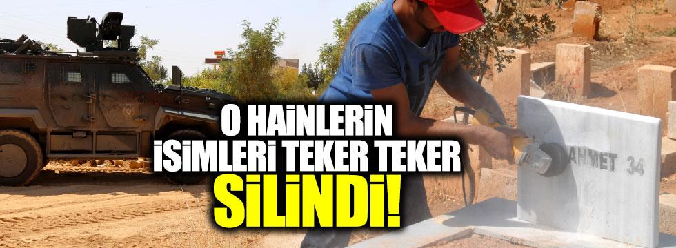 Suruç'ta PKK mezarlarındaki simge ve kod isimleri tek tek silindi