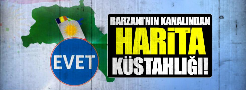 Barzani'nin kanalından yine harita küstahlığı!