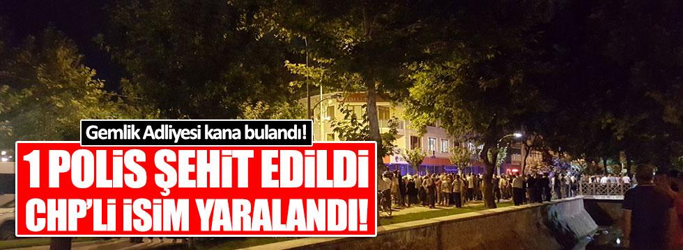 Adliyede 1 polis şehit edildi, CHP'li isim yaralandı