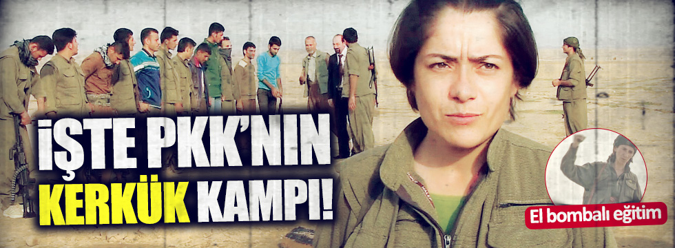 PKK'nın Kerkük'teki üssü görüntülendi
