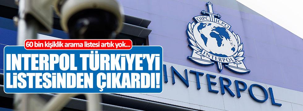 Interpol, Türkiye'yi listesinden çıkardı!