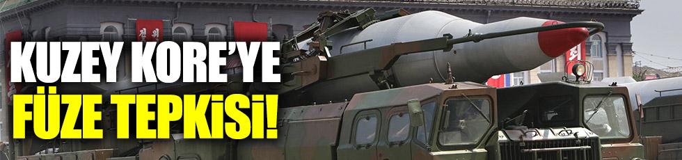Kuzey Kore'ye füze tepkisi!