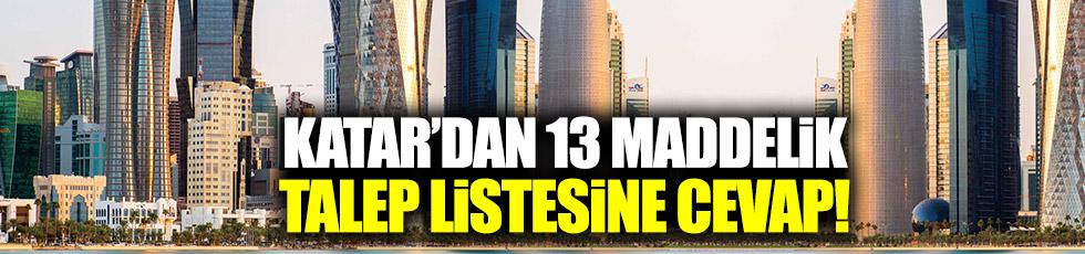 Katar 13 maddelik talep listesine cevap verdi!