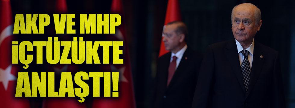 AKP ve MHP 'içtüzük' konusunda anlaştı