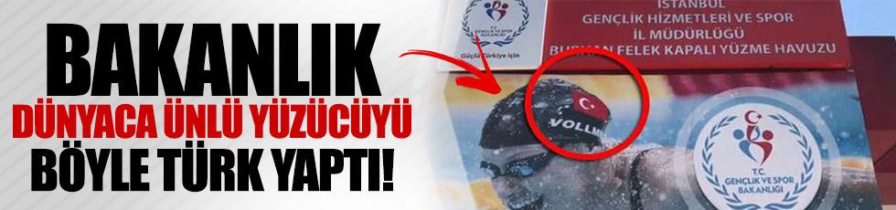 Bakanlık Amerikalı yüzücüyü böyle 'Türk yaptı'