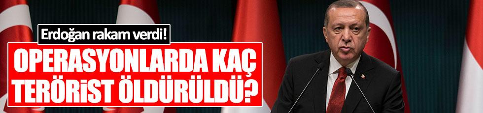 """Erdoğan: """"3 binin üzerinde DEAŞ'lı öldürüldü"""""""